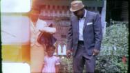 Stock Video Footage of BLACK FATHER MAN African American 1970 (Vintage Retro Film Home Movie) 6284