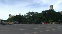 Havana, Traffic on Agramonte street Stock Footage