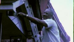 BLACK MAN African American Home Repair 1970s Vintage Film Home Movie 6287 Stock Footage