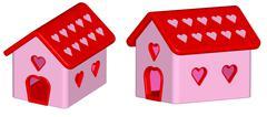 Render: love house Stock Illustration