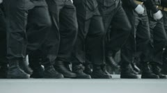 Soldiers march in the ranks 2 - stock footage