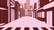 Stock Video Footage of Catwalk Modal In Cartoon City