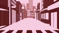Catwalk Modal In Cartoon City Stock Footage