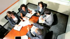 Male Female Business People Meeting Boardroom - stock footage