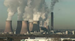 Power station and smoke Stock Footage