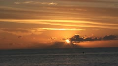 Golden sunrise over the sea - stock footage