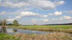 Backwater of Oder River, Unteres Odertal National Park, Germany Stock Footage