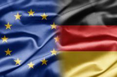 eu and germany - stock illustration