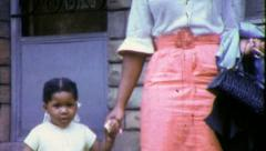 Black MOTHER DAUGHTER African American Family 1960s Vintage Film Home Movie 6297 Stock Footage