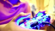 Close-up Video Game Controller Stock Footage