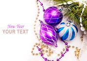 Stock Illustration of new year background with decoration balls