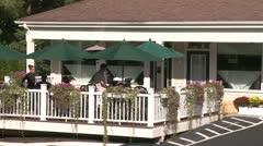 Outdoor restaurant (2 of 2) Stock Footage