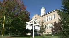 Old schoolhouse (1 of 3) - stock footage
