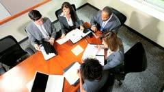 Group Multi Ethnic Business People Good News Stock Footage