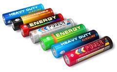 Set of AA batteries Stock Illustration