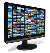 LCD display with picture gallery Stock Illustration