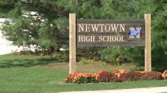 Newtown school (1 of 6) Stock Footage
