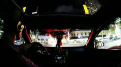 Long Exposure Driving Timelapse Stock Footage