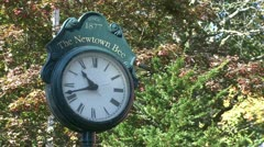 Newtown clock (1 of 1) Stock Footage