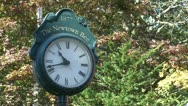 Stock Video Footage of Newtown clock (1 of 1)