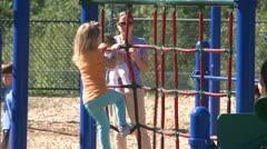 Children playing on a playground (8 of 10) Stock Footage