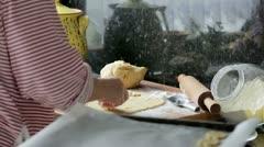 Woman preparing christmas cookies Stock Footage