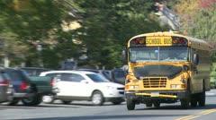 Yellow school bus (1 of 1) Stock Footage
