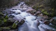 Time Lapse of River by Lillooet Lake in BC Stock Footage