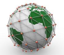 3d global network Stock Illustration