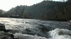 Waters of a river Stock Footage