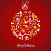 Stock Illustration of cute christmas ball