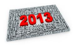 3d year 2013 - stock illustration