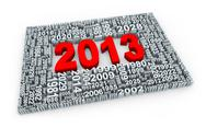 Stock Illustration of 3d year 2013