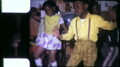 BLACK Children KIDS DANCE African American 1970s Vintage Film Home Movie 6323 Stock Footage