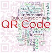 Qr-code word tags Stock Illustration