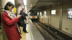 Tokyo - Subway arrival - Japan - HD - stock footage
