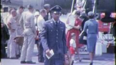 HOMECOMING Black Veteran African American 1970s Vintage Film Home Movie 6326 Stock Footage