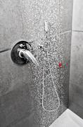 Shower water entire floor Stock Photos