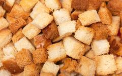 dried bread - stock photo