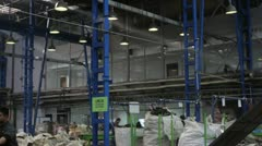 E-Waste recycling factory _roof Stock Footage