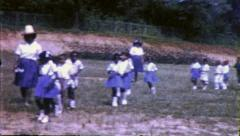 Black SCHOOL CHILDREN African American Girls 1960 Vintage Film Home Movie 6336 - stock footage