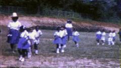 Black SCHOOL CHILDREN African American Girls 1960 Vintage Film Home Movie 6336 Stock Footage