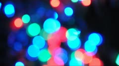 Blinking Christmas Lights Background Stock Footage
