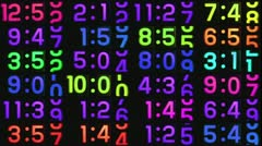 Stop motion flip clock videowall Stock Footage