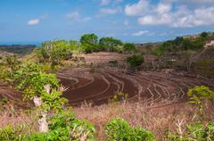 hills on nusa penida, indonesia - stock photo