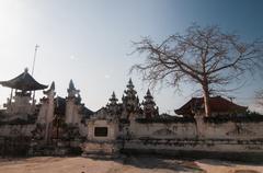 White hindu temple on nusa penida Stock Photos