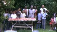 Big Black FAMILY REUNION African American 1970s Vintage Film Home Movie 6339 Stock Footage