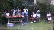 Big BLACK FAMILY REUNION African American 1970s Vintage Film Home Movie 6340 Stock Footage