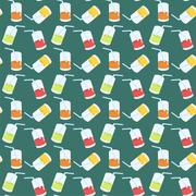 seamless background with cocktails - stock illustration