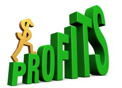 Stock Illustration of increasing profits